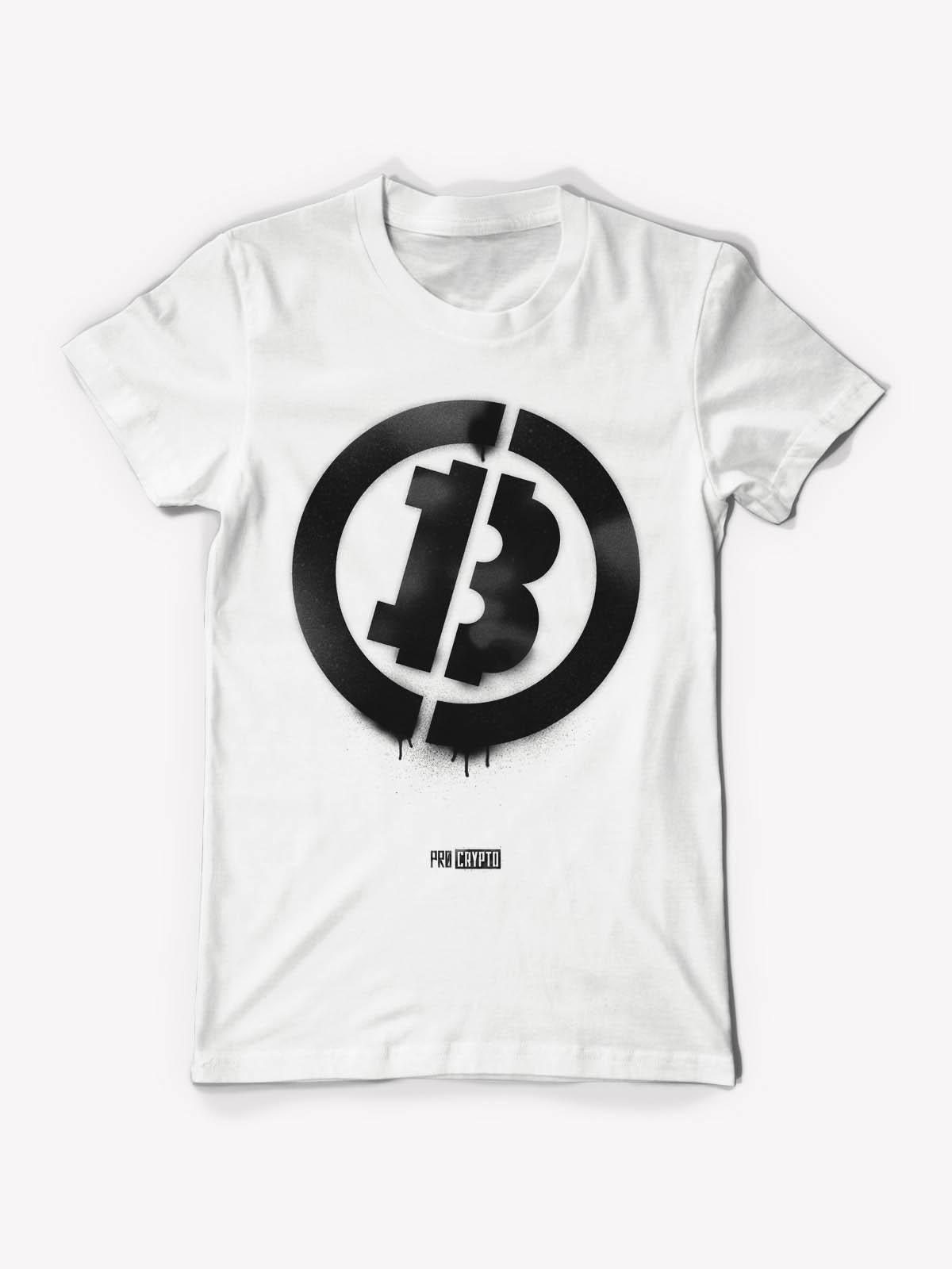 Bitcoin Stencil - White Tee