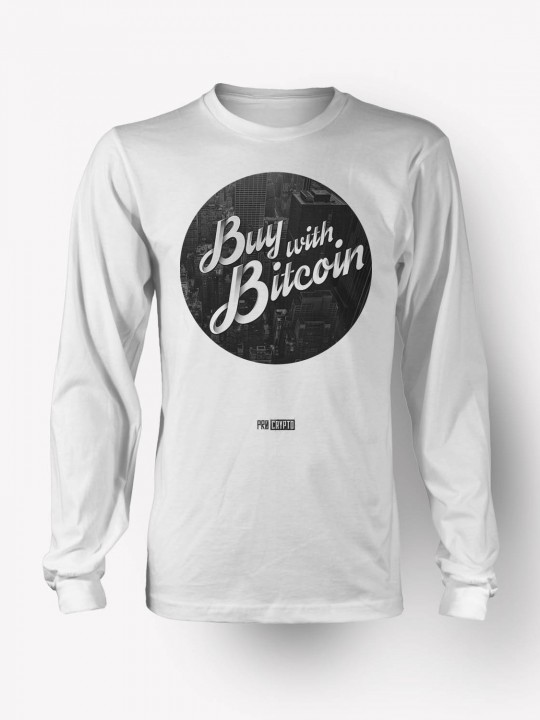Buy with Bitcoin -- Longsleeve t-shirt
