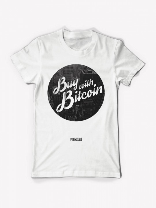 Buy With Bitcoin - White Tee