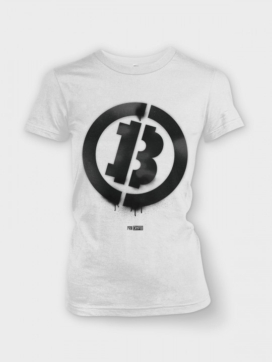 Bitcoin Stencil - Ladies tee