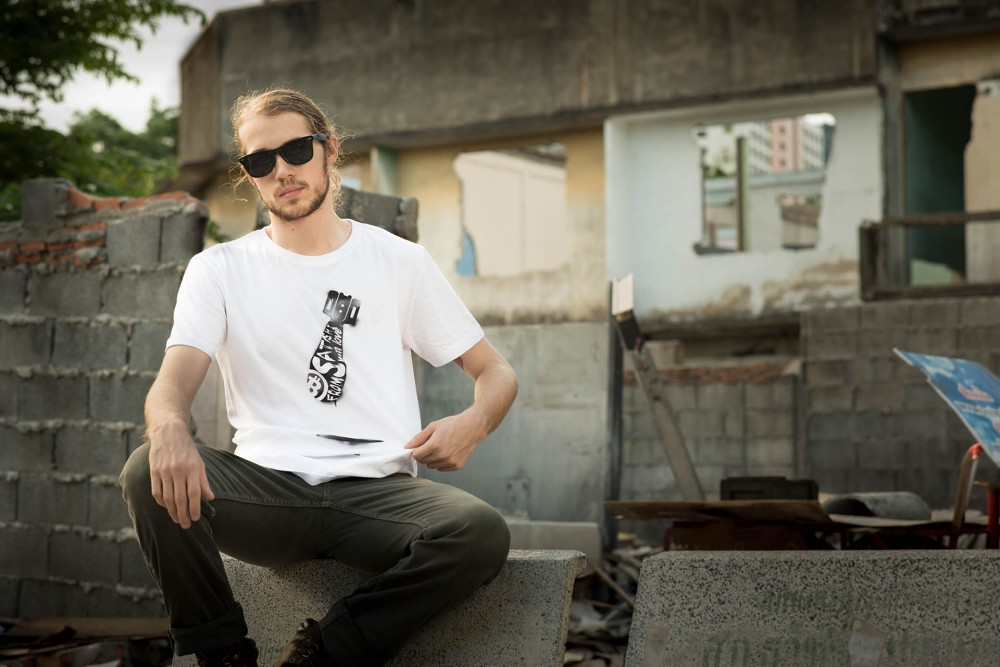 From Satoshi With Love Tee   Accessorize with shades   Help make Bitcoin cool