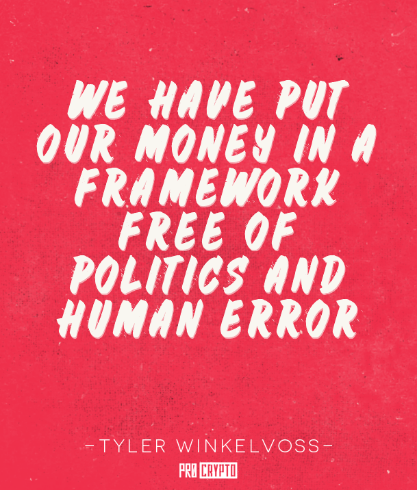 Tyler Winkelvoss Quote
