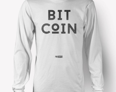 BITCoIN - White Longsleeve T-shirt