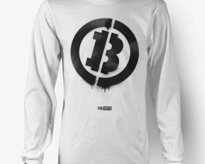 Bitcoin Stencil -- Longsleeve t-shirt