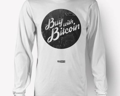 Buy with Bitcoin -- Longsleeve t-shirt