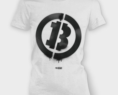 Bitcoin Stencil - Ladies tee