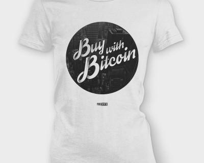 Buy with Bitcoin - Ladies tee