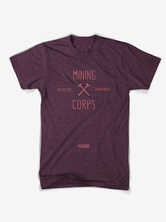 Mining Corps - Cranberry / Tri-blend Tee