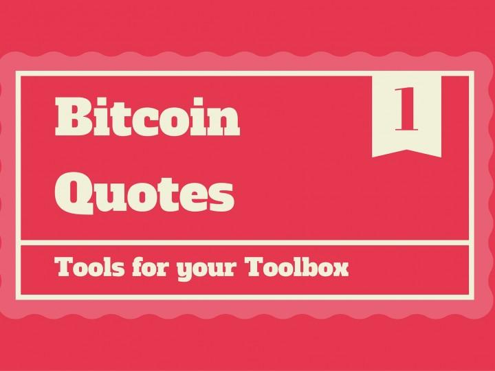 Bitcoin Quotes No.1